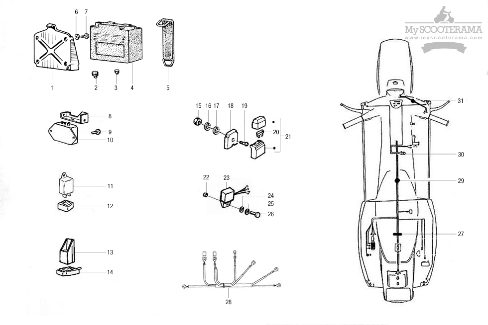Faisceau - composants électriques