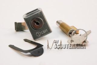 Serrure boite à gant et Neiman long 39mm guide 6 mm - Vespa à partir de 1978: 50S/R,125 Primavera, ET3,PX/PE