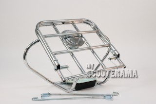 """Porte bagage arrière Vespa 8"""" Jantes pleines: type N, VNB, GT"""