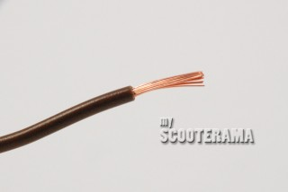 FIL PVC A PAROI MINCE 32/0,20 16,5A, BRUN