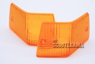Paire plastique clignotant arrière orange - Vespa PX/T5