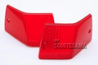 Paire plastique clignotant arrière rouge - Vespa PX/T5