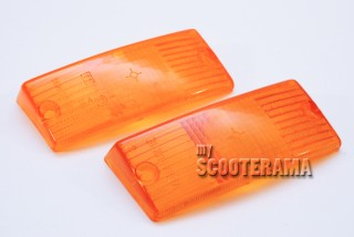 Paire plastique clignotant avant orange - Vespa PX/T5