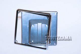 Entourage de plaque - 17x17cm - chromé (uniquement le cadre)