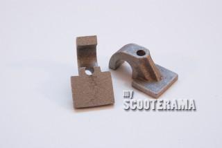 Paire de pontets de béquille en aluminium - béquille diamètre 16mm