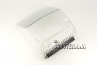 Plastique de feu arrière blanc transparent - Vespa PX Arcobaleno