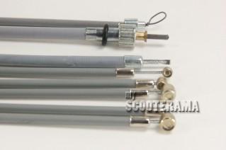 Set complet câbles et gaines grises - TEFLON - Vespa 50, 50 Special, 90