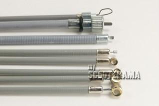 Set complet câbles et gaines grises - TEFLON - Vespa 125 Primavera, ET3