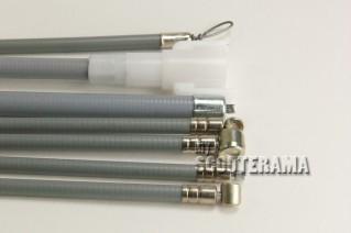 Set complet câbles et gaines grises - Vespa PX Frein à disque 125/150/200 - à partir de 1998