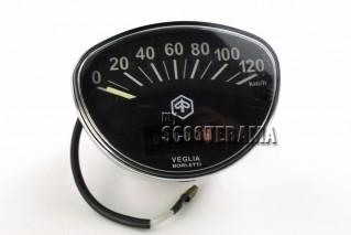 Compteur fond noir - Vespa 125 primavera, ET3, Rally, GTR, TS