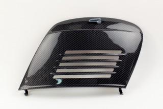 Portière noire moteur  - 32x22cm - Vespa 50, special, Primavera, ET3 - carbone