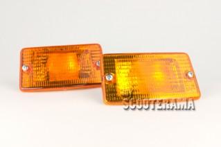 Ensemble clignotants avant orange - Vespa PK50-125XL, PK50 RUSH, PK N, PK FL2
