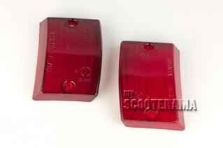 Paire plastiques clignotants avant rouge - Vespa PK50, PK50S, PK125S, PK125XL2