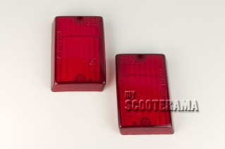 Paire plastiques clignotants arrière rouge - Vespa PK50, PK50S, PK125S, PK125XL2