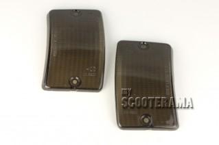 Paire plastiques clignotants avant noir - Vespa PK50-125XL, PK50 RUSH, PK N, PK FL2