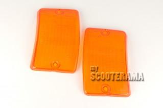 Paire plastiques clignotants avant orange - Vespa PK50-125XL, PK50 RUSH, PK N, PK FL2