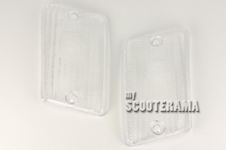 Paire plastiques clignotants arrière blanc - Vespa PK50-125XL, PK50 RUSH, PK N, PK FL2