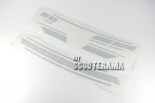 Set autocollants bleu marine - Vespa 125 ET3 Electronic