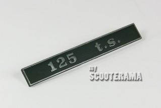 """Insigne arrière """"125 TS"""""""