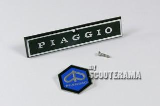 """Insigne """"Piaggio"""" et Hexagone - Descente klaxon Vespa 2"""