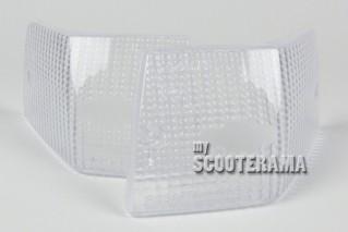 Paire plastiques arrière clignotants Blanc - Vespa PX/T5