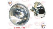 Optique de phare SIEM  pour Vespa 50  DIAM 105