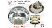 Optique SIEM  pour Vespa 125 (VNA1T 1958) - (VNA2T 1958-1959) - (VNB1T 1960) - (VNB2T 1961) DIAM 105