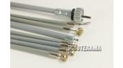 Set complet câbles et gaines grises - TEFLON - Vespa PX 1ère série 125/150/200, Vespa2 - jusqu'en 1984
